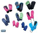 CHILDREN'S SKI GLOVES MITTENS 3M THINSULATE INSULATION WARM LINED WATERPROOF