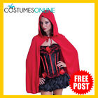 Ladies Costume Fancy Dress Accessories SW Little Red Riding Hood Hooded Cape