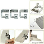 Metal Steel Rolled Hem Foot Presser Feet Kit Set for Domestic Sewing Machine