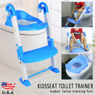 Kid Training Toilet Potty Trainer Seat Chair Toddler With Ladder Step Up Stool фото