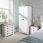 Bedroom Furniture Set includes wardrobe, 4 drawer chest, bedside table in White