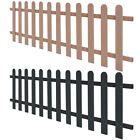 WPC Picket Fence Panels Portable Display Barrier Temporary Brown/Grey 4 Sizes✓