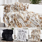 Real Farm Exotic Fur Throws Brown Striking Popular Come Rabbit Blanket 62''X55''
