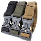 New Pistol Belt Military Tactical Belts Style Quick Release Nylon Brown