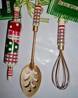 COUNTRY LIVING ROLLING PIN SPOON WHISK KITCHEN THEME CHRISTMAS ORNAMENTS NEW