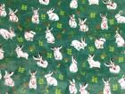 Double Sided Super Soft Cuddle Fleece Fabric Material - BUNNY GREEN