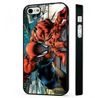 spiderman on builiding BLACK PHONE CASE COVER fits iPHONE