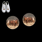 HORSE HERD 31038 button earrings necklace ponytail tie tacks pins western farm