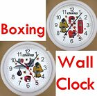 boxing ring ropes - BOXING Wall CLOCK Boxer Box Gloves Bag Ring Ropes Punch Knock Out Fist Hook NEW