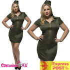 Ladies Army Uniform Fever Curves Soldier Wartime 40s Womens Costume Fancy Dress