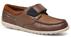 Clarks BALMY DRUM Boys Brown Leather Boat Shoes Loafers 8 - 4 JNR NEW BOXED