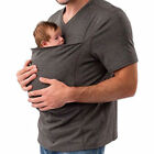 Dad Shirt Babywearing Wrap Carrier T-Shirt Kangaroo Care Bonding Short Sleeve