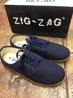 Zig Zag Wino Shoes-Navy Blue Lace Up