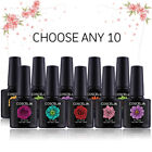 Pink Any 10 Colors Soak Off UV Gel Nail Polish Gelpolish UV LED Top Base Coat