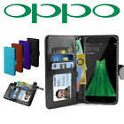 OPPOR11S Premium Leather Flip PU Wallet ID Card Case Cover Stand For Oppo AU