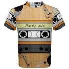 Cassette Tape Sublimation Men's T-Shirt Sport Mesh Tee Size XS-3XL Free Shipping