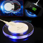 OEM Clear crystal Qi Wireless Charger Charging Pad For Apple iPhone X 8 Plus