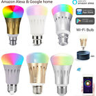WiFi Smart Bulb Works with Alexa Google E27 B22 7W RGB Multicolor Party Light