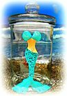 Tropical Glass Canister Mermaid Beach Decoration Nautical Party Gift