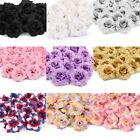 50pcs Artificial Fake Rose Silk Flower Head Wedding Party Home Garden Decor Us