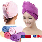 Microfiber Towel Quick Dry Hair Magic Drying Turban Wrap Hat