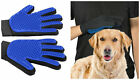 Pet Grooming Gloves Dog Cat Hair Remover Deshedding Clean Brush Washable 1 Pair