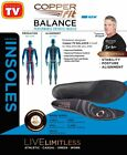 Copper Fit Balance Insoles AS SEEN ON TV XS/S/M/L/XL Copper Infused Orthotic
