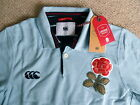 M or XL ENGLAND RUGBY 1871 VINTAGE POLO SHIRT SKY BLUE Canterbury New Zealand