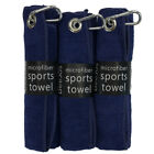 "3 pack of black & colored microfiber golf towels 16"" X 16""  with carabiner clip"