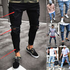 skinny ties.com - USA STOCK Men Slim Denim Jeans Skinny Frayed Pants Distressed Rip Troursers HPL