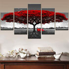 Home Decor Canvas Print Painting Wall Art Modern Red Tree Scenery Bench Gift