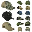 USA American US Flag Baseball Cap Patch Trucker Tactical hunting Army CAMO Hat