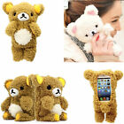 3D Doll Toy Cool Plush Teddy Bear Cover Case For iPhone Samsung Sony Wiko Phones