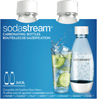 NEW Sodastream 1748210610 0.5l Bottle Twin Pack Fuse White