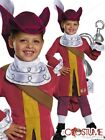 Captain Hook Costume Disney Pirate Child Boys Peter Pan Halloween Dress New