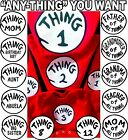 Dr Seuss Thing 1 and Thing 2 T-shirts CUSTOM & #'S infant YOUTH adult 2 T-shirt