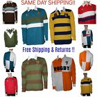 Mystery Pack 3/5/8/10 Lot Men Casual Long Sleeve Button Rugby Polo Shirt Casual