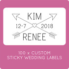 100 CUSTOM SAME SEX MARRIAGE WEDDING LABELS STICKERS LGBTQI STICKY GAY LABELS