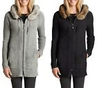 EDDIE BAUER Women's Shasta Full Zip Hoodie Fur Lined Sweater XS,M,XL    NEW  NWT