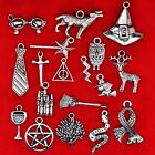 Tibetan Silver Harry Potter Theme Mixed Charms Pendants Beads Deathly Hallows