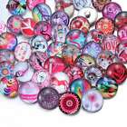 50pcs 18mm Ginger Snap Button Mix Pink&Red Themes Glass Charms For Snap Jewelry