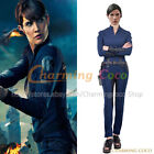SHIELD Agent Maria Hill Cosplay Costume Jumpsuit Uniform Halloween Party