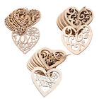 10 Wooden Love Heart Wedding Engaged Hanging Decor Laser Cut Craft Embellishment