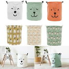 6 Types Foldable Storage Laundry Hamper Clothes Basket Cotton Cloth Washing Bag