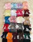Lacey Spanish Romany Baby Girls Socks Double Bow Knee High With Lace Flower Girl