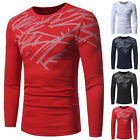 UK Mens Slim Fit Crew Neck BOY Long Sleeve Muscle Tee T-shirt Casual Tops Blouse
