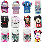 Cute 3D Cartoon Disney Silicone Rubber Soft Case Cover Skin For iPhone SamsungS7