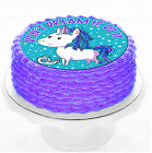 Motivational Funny Horse Rainbow Unicorn Dream Birthday Party Cake icing sheet