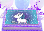 Funny Horse Pony Unicorn Inspiration birthday Party Cake Decoration icing sheet