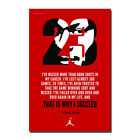 Michael Jordan Motivational Quote Poster Wall Art Print 24x36